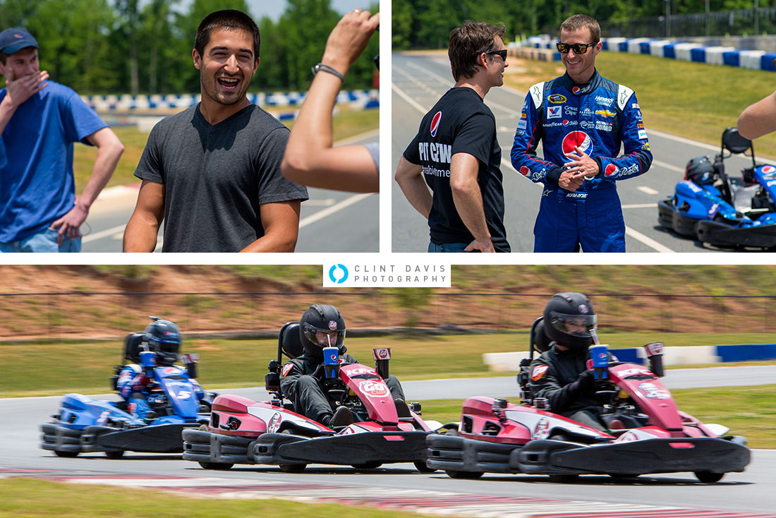 Jeff Gordon & Kasey Kahne: Go-Kart Challenge - Jeff, Kasey and the guys having a blast racing around the GoPro Motorplex